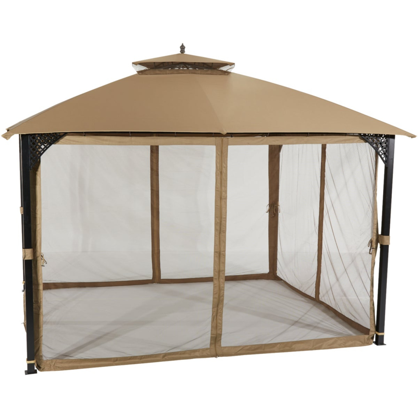 Outdoor Expressions 10 Ft. x 12 Ft. Art Steel Gazebo Image 1