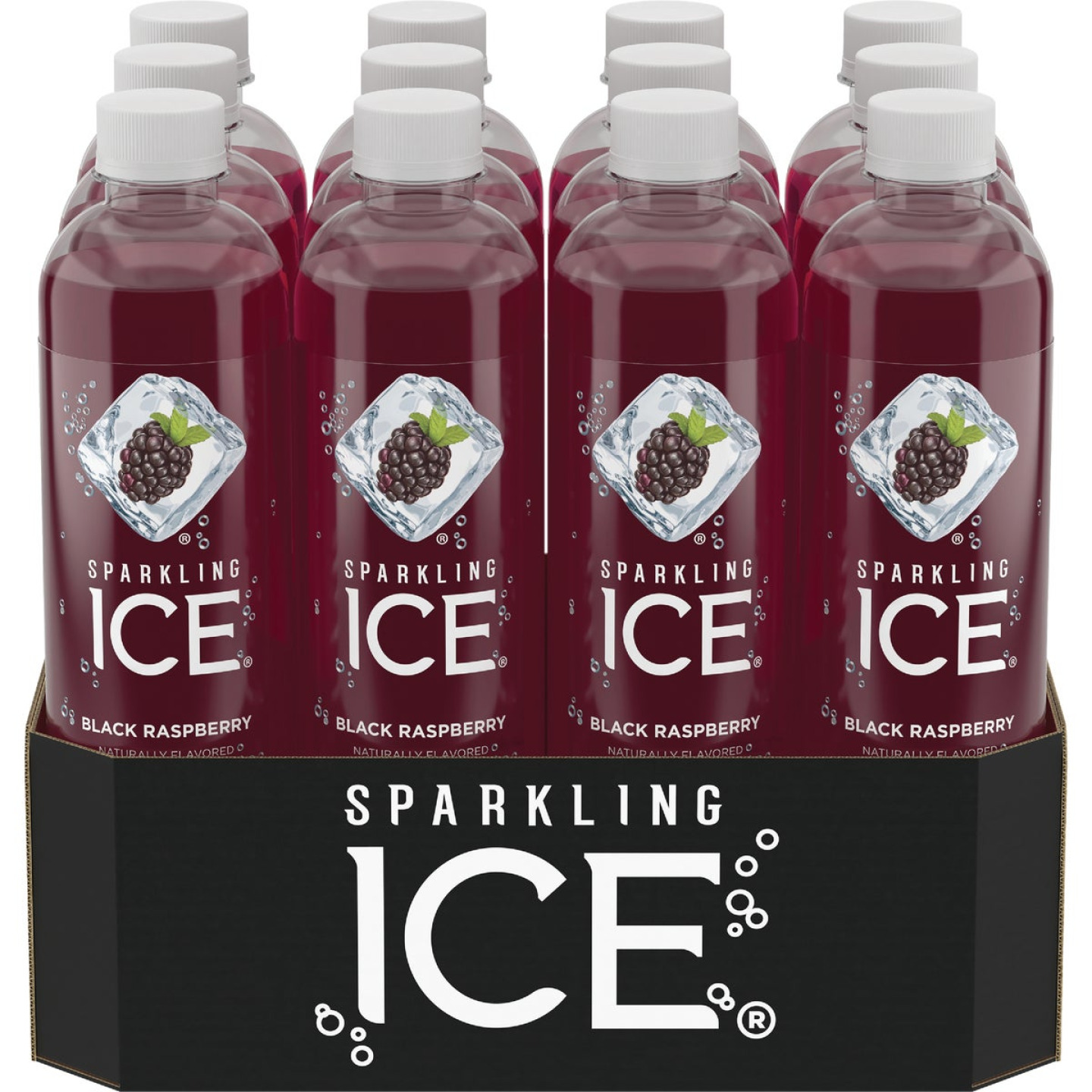 Talking Rain Sparkling Ice 17 Oz. Water, Black Raspberry Image 1
